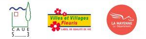 CAUE de la Mayenne, Label Villes et Villages Fleuris, Département de la Mayenne
